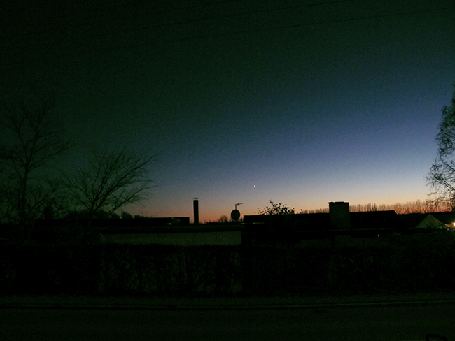 suburban nightfall